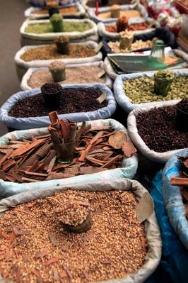 Spices and Snacks in Farmer's Market, Darjeeling, India | Earth's Resources