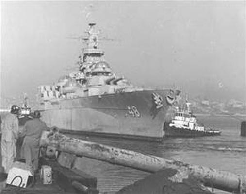 The USS West Virginia