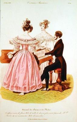 Fashion plate from 'Journal des Dames et des Modes', 23rd March 1836