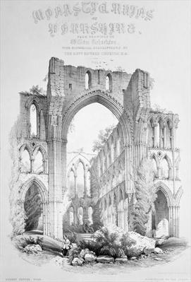 Rievaulx Abbey, from the title page of 'Monastic Ruins of Yorkshire'