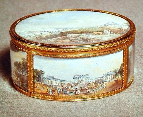 Snuff box painted with views of Schloss Bellevue