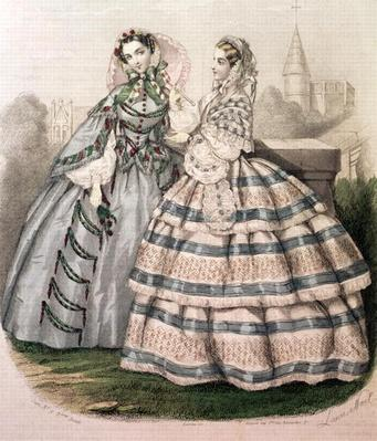 Day Dress for 1858, engraved by Barreau