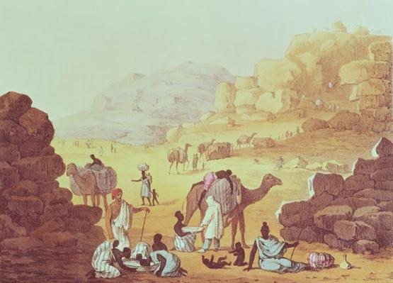 A Slave Caravan, plate from 'A Narrative of Travels in Northern Africa', 1821
