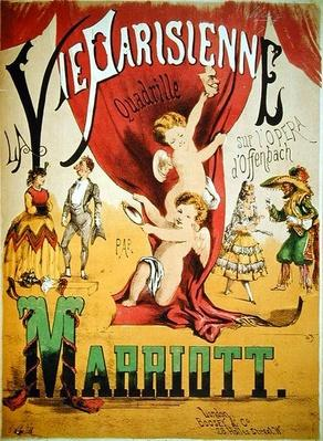 Cover of the score sheet for 'La Vie Parisienne Quadrille' by Charles Marriott, engraved by T.W. Lee