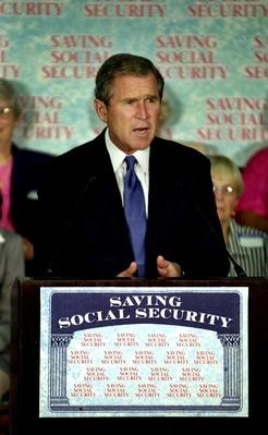 Republican Candidate George W. Bush Announces Social Security Plan | U.S. Presidential Elections: 2000