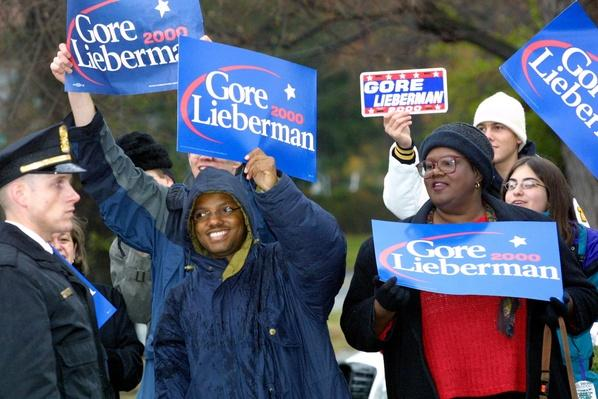 Supporters Gather Outside Al Gore's Residence as Recount Continues | U.S. Presidential Elections: 2000