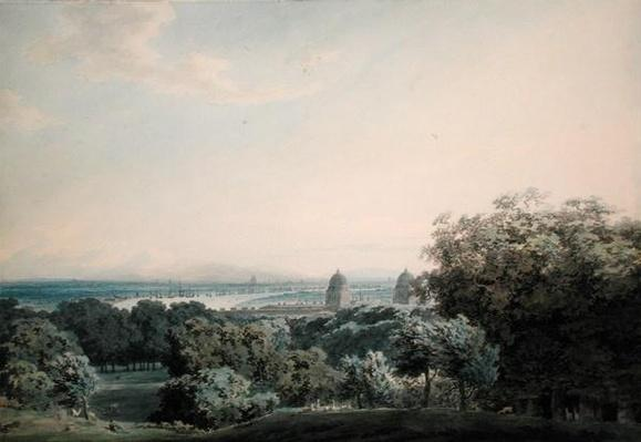 London from Greenwich Hill, c.1791