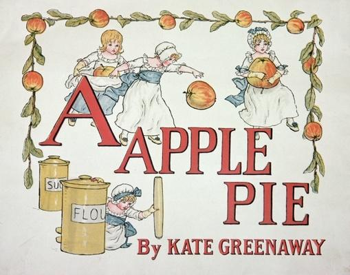 Illustration for the letter 'A' from 'Apple Pie Alphabet', published 1885