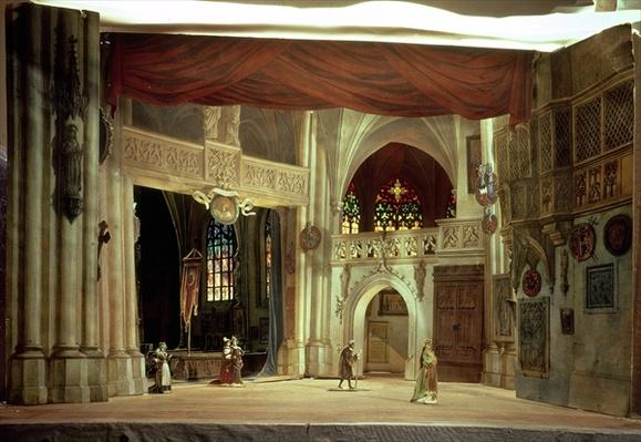 Stage model for the opera 'Der Meistersinger von Nurnberg' by Richard Wagner