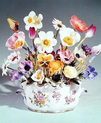 Flowers in a pot, Royal Worcester