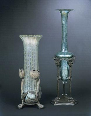 Vases designed by Professor Rudolf Bakalowits for the firm of Bakalowits & Soehne, Vienna, 1902