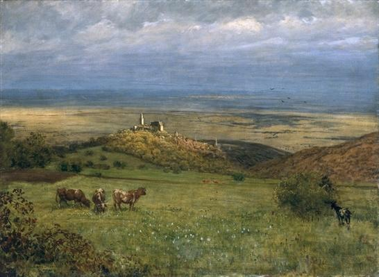 View of Kronberg in Taunus, Germany, 1879