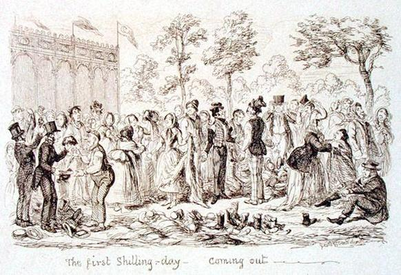 Mayhew's Great Exhibition of 1851: The First Shilling Day - Coming Out, 1851