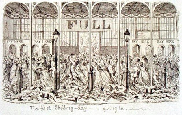 Mayhew's Great Exhibition of 1851: The First Shilling Day - Going In, 1851