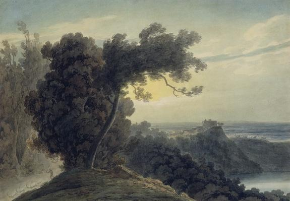 The Lake of Albano and Castle Gandolfo, c.1783-85