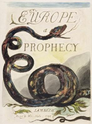 Title Page from 'Europe. A Prophecy', 1794