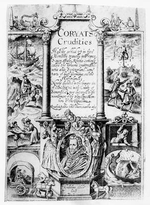 Title Page from 'Coryat's Crudities', published in 1611