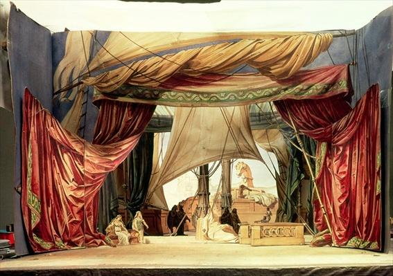 Stage model for the opera 'Tristan and Isolde' by Richard Wagner
