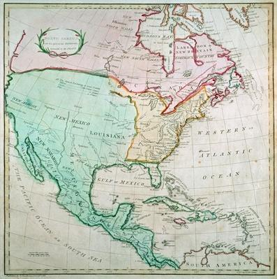 Map of North America, published by T. Stackhouse, 1783