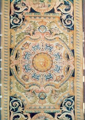 Detail of a Savonnerie carpet made for the Grande Galerie of the Louvre, c.1680