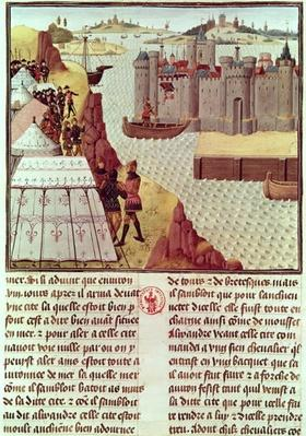 Ms Fr 9342 Page from the 'Histoire du Grand Alexandre' by Jean Vauquelin, c.1465