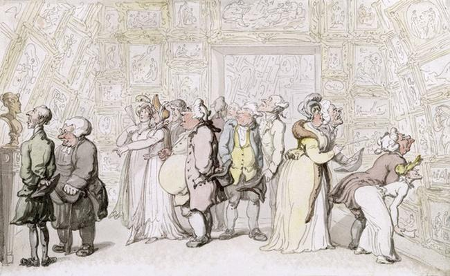 Viewing at the Royal Academy, c.1815
