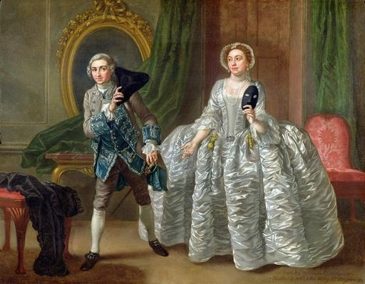 David Garrick and Mrs Pritchard in 'The Suspicious Husband' by Benjamin Hoadley