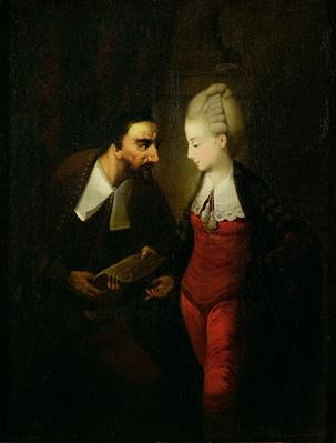 Portia and Shylock from 'The Merchant of Venice' Act IV, scene i, c.1778
