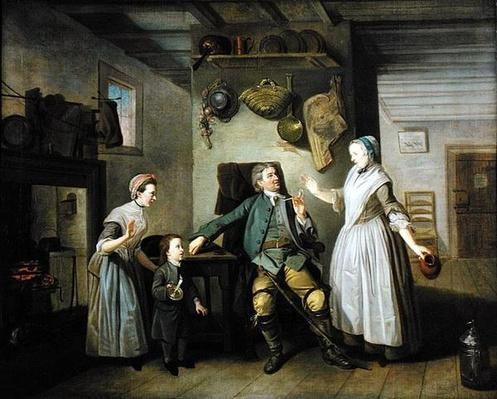 David Garrick and Mary Bradshaw in 'The Farmer's Return' by David Garrick, c.1762