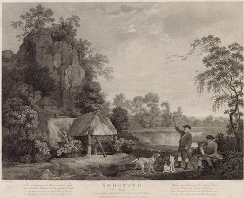 Shooting, plate 1, engraved by William Woollett