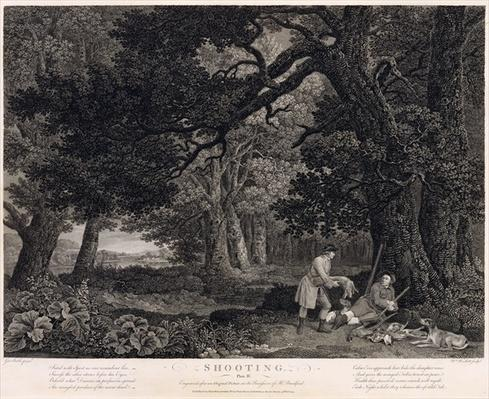 Shooting, plate 4, engraved by William Woollett