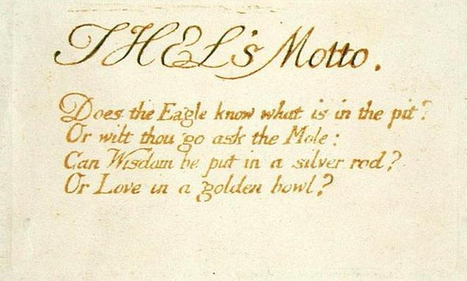 'Thel's Motto...', plate 1 from 'The Book of Thel', 1789