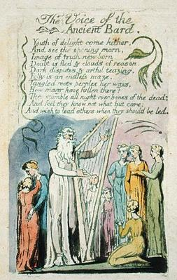 The Voice of the Ancient Bard, from 'Songs of Innocence', 1789
