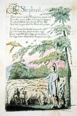 The Shepherd, plate 4 recto from 'Songs of Innocence', 1789