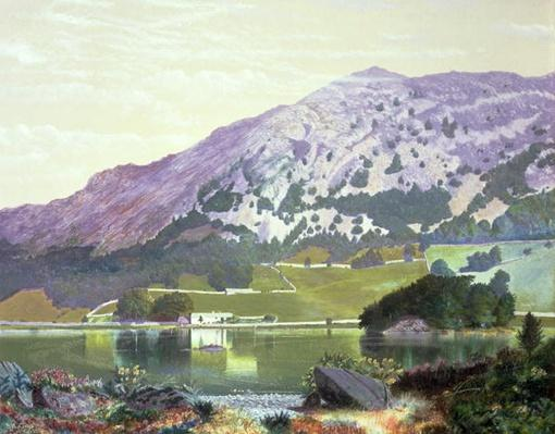 Nab Scar from the South Side of Rydal Water - Heather in Bloom, September, 1864