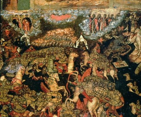 Battle between the Russian and Tatar troops in 1380, 1640s