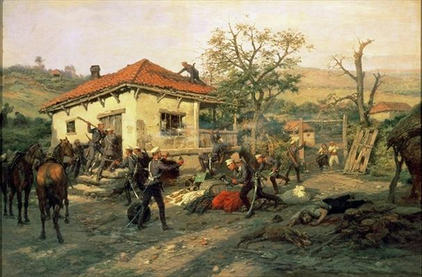 A Scene from the Russian-Turkish War in 1876-77, 1882