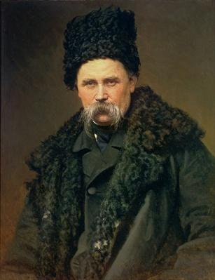 Portrait of the Ukranian Author Taras Grigorievich Shevchenko