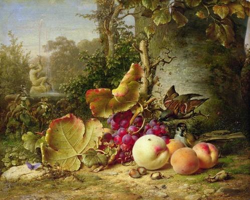 Fruit and Sparrows, 1863