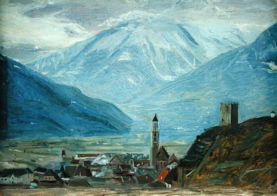Merano in the Snow, c.1840