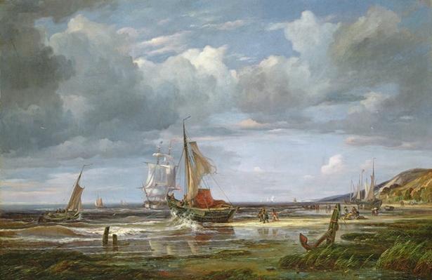 The Elbe at Blankenesee, 1844