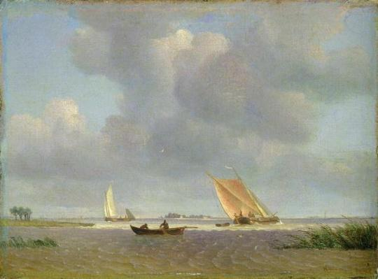 A fresh breeze on the Elbe, c.1830