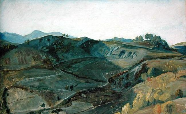 A rugged valley in Italy, c.1833-34