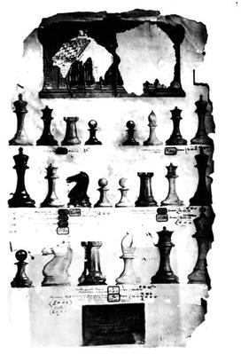 The Staunton Chessmen Patent Drawing