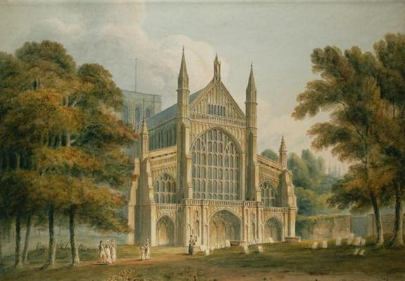 Winchester Cathedral: The Facade from the North-West, 1801