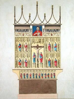 High-Altar of the former Cathedral in Hamburg, 1805