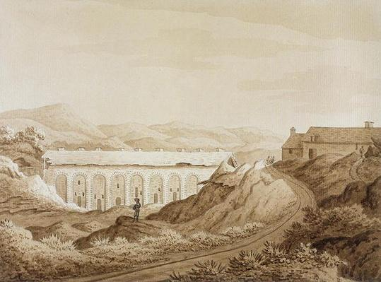 Blaenavon, from 'An Historical Tour in Monmouthshire' by William Coxe, published in 1801