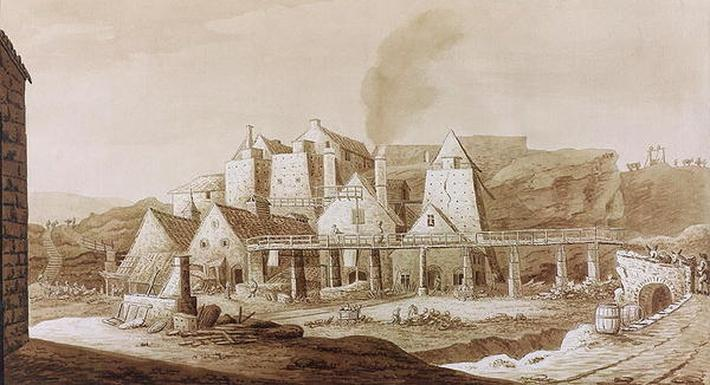 Works at Blaenavon, from 'An Historical Tour in Monmouthshire' by William Coxe, published in 1801