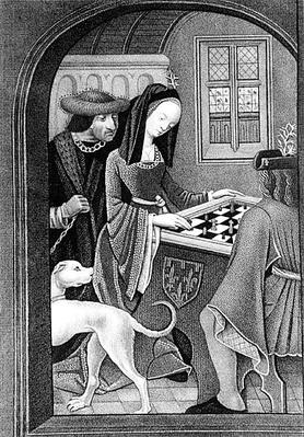 Playing Chess, engraved by T. Fry