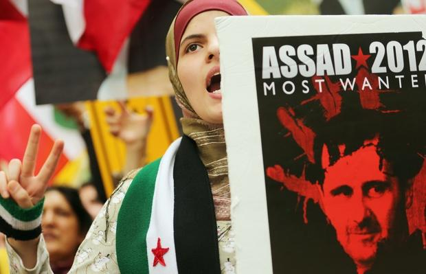 Protestors Rally Outside UN General Assembly | Conflicts: Syria